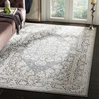Safavieh Reflection Grey/ Cream Polyester Area Rug (5' 1 x 7' 6)