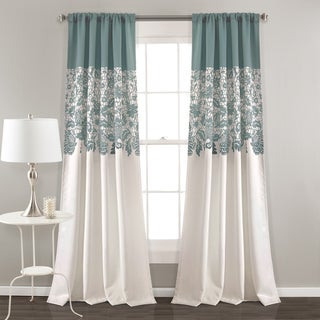 Lush Decor Estate Garden Room Darkening Window Curtain Panel Pair