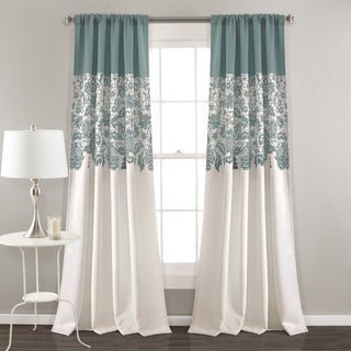 Lush Decor Estate Garden Print Room Darkening Window Curtain Panel Pair