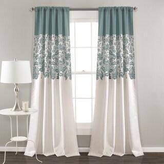 """Lush Decor Estate Garden Room Darkening Window Curtain Panel Pair - 52""""W x 84""""L"""