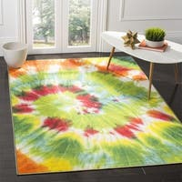 "Safavieh Paint Brush Green/ Orange Area Rug - 6'-7"" X 9'"