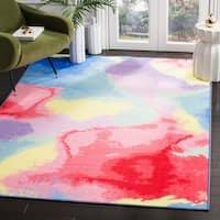 Safavieh Paint Brush Pink/ Yellow Area Rug - 6' 7 x 9'