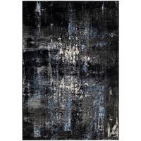 Safavieh Porcello Modern Abstract Grey/ Black Area Rug - 5'1 x 7'6