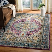 Safavieh Monaco Boho Medallion Violet/ Light Blue Distressed Area Rug - 5' 1 x 7' 7