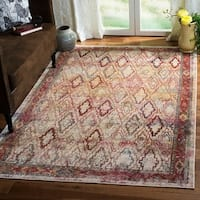 Safavieh Harmony Grey/ Red Area Rug (6' 7 x 9' 2)