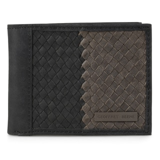 Geoffrey Beene Men's Genuine Leather Two-tone Bifold Wallet