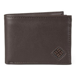 Columbia Men's Genuine Leather Extra Capacity Bifold Wallet