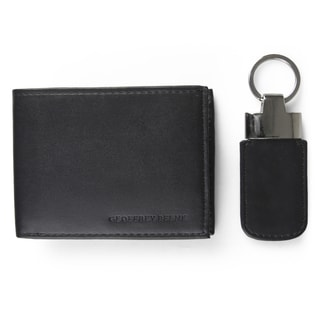 Geoffrey Beene Men's Faux Leather Key Fob Bifold Wallet