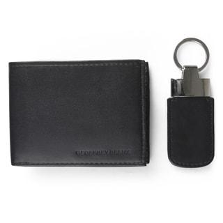 Geoffrey Beene Men's Faux Leather Key Fob Bifold Wallet