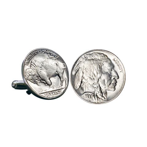 Smithsonian Institution Buffalo Nickel Cuff Links