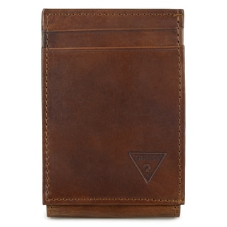 Guess Men's Front Pocket Genuine Leather Wallet