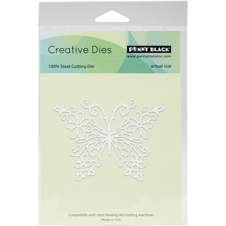 "Penny Black Creative Dies-Floral Butterfly, 3.7""X2.7"""