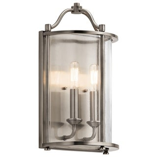 Kichler Lighting Emory Collection 2-light Classic Pewter Wall Sconce