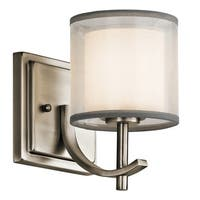 Gracewood Hollow Farouk Collection 1-light Antique Pewter Wall Sconce - antique pewter