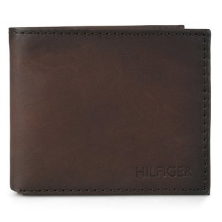 Tommy Hilfiger Men's Bifold Genuine Leather Passcase Wallet