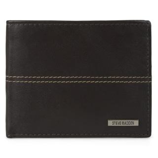 Steve Madden Men's Genuine Leather Passcase Wallet