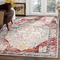 Safavieh Crystal Blue/ Red Area Rug (6' 7 x 9' 2)