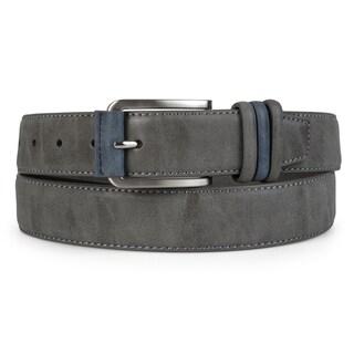 Vance Co. Men's 35 mm Genuine Leather Topstitched Belt