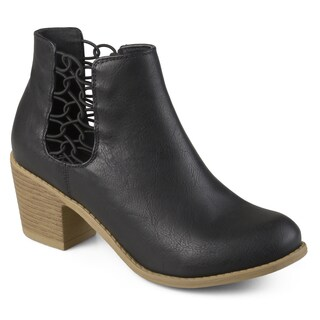 Journee Collection Women's 'Talise' Stacked Wood Heel Faux Leather Booties (More options available)