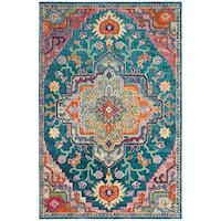 Safavieh Crystal Teal/ Pink Area Rug - 6' 7 x 9' 2