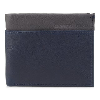 Geoffrey Beene Men's Genuine Leather Two-tone Bifold Wallet (Option: Blue)