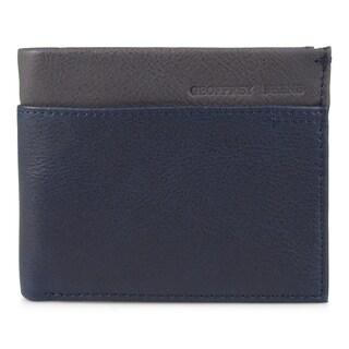 Geoffrey Beene Men's Genuine Leather Two-tone Bifold Wallet