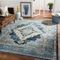 Safavieh Crystal Boho Medallion Blue/ Yellow Area Rug - 6' 7 x 9' 2