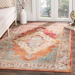 Safavieh Crystal Orange/ Blue Area Rug (6' 7 x 9' 2)