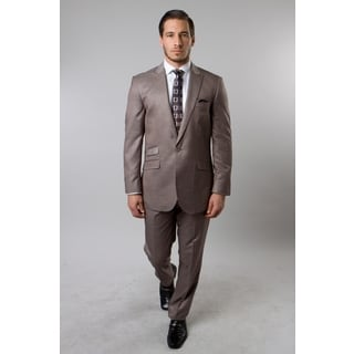 Tazio Men's Tan 2-piece Suit