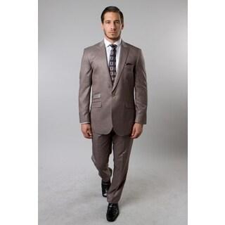 Tazio Men's Tan 2-piece Suit