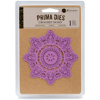Prima Marketing Purple Metal Die-Crochet Doily