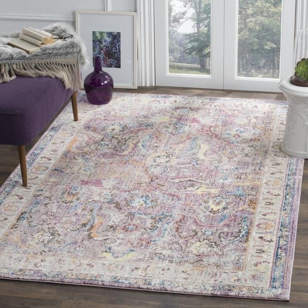Purple And Lavender Rug: Safavieh Bristol Transitional Purple/ Grey Polyester Area