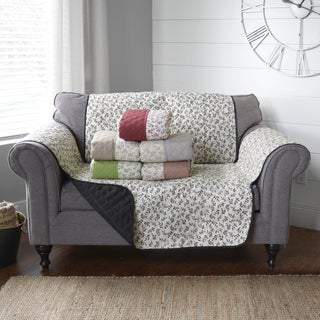 "Journee Home 'Colette' Reversible Printed Loveseat Protector - 87"" x 68"""