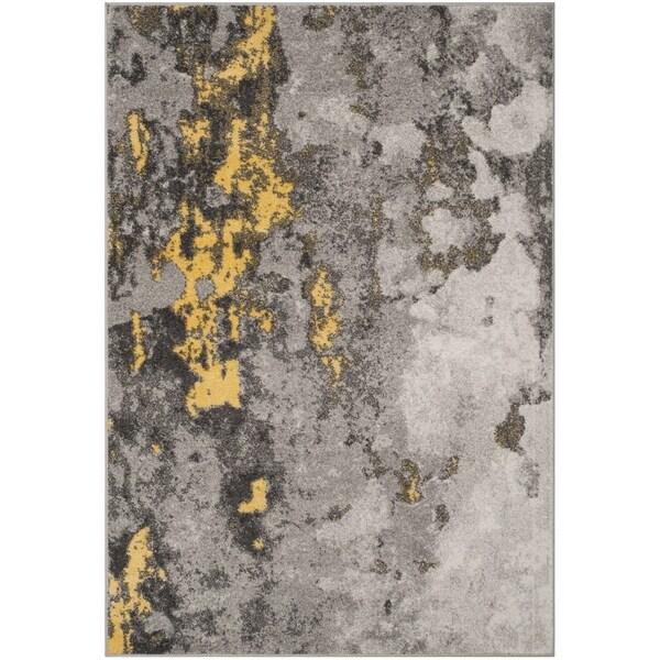 Safavieh Adirondack Modern Abstract Grey Yellow Area Rug
