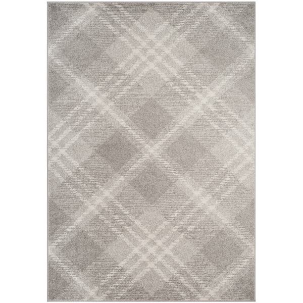 Safavieh Adirondack Contemporary Plaid Grey Ivory Area