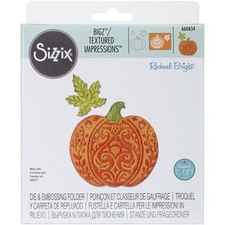 """Sizzix Bigz Die W/Bonus Textured Impressions 5.5""""X6""""-Harvest Pumpkin"""