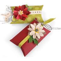 Sizzix Thinlits Dies 7/Pkg-Pillow & Poinsettias Box