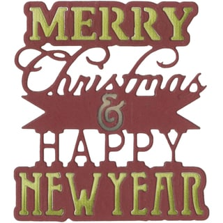 Sizzix Thinlits Die-Merry Christmas & Happy New Year Phrase