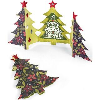 Sizzix Thinlits Dies 6/Pkg-Christmas Tree Fold-A-Long Card
