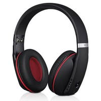 Mpow Wireless Bluetooth Headphones with Noise Reduction Cancelling and Built-in Mic in black and red (As Is Item)