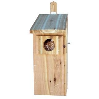 Screech Owl Nest Box Mounted Birdhouse