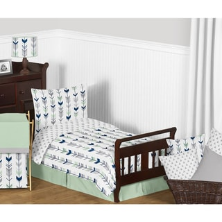 Link to Sweet Jojo Designs Grey and Mint Mod Arrow Collection Comforter Set Similar Items in Kids Comforter Sets