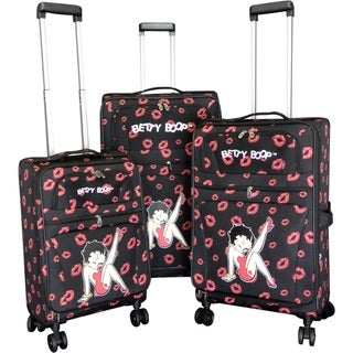 "Link to Betty Boop Black 3-piece Expandable Spinner Luggage Set - 28"" 24"" 20"" Similar Items in Luggage Sets"