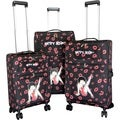 Black Betty Boop Black 3-piece Expandable Spinner Luggage Set