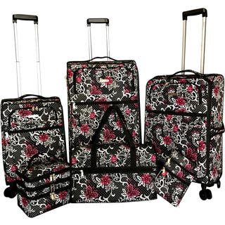 Karriage-Mate Floral 6-piece Expandable Spinner Luggage Set|https://ak1.ostkcdn.com/images/products/15199664/P21677432.jpg?impolicy=medium