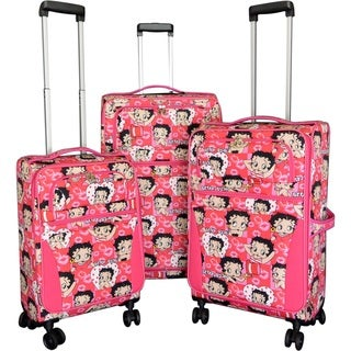 """Link to Betty Boop Pink 3-piece Expandable Spinner Luggage Set - 28"""" 24"""" 20"""" Similar Items in Luggage Sets"""