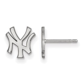 Sterling Silver New York Yankees XS Post Earring