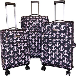 Karriage-Mate Anchor Black 3-piece Expandable Spinner Luggage Set