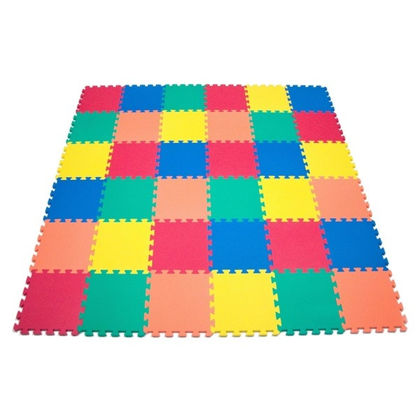 5 Color Wonder Mat Non-Toxic Non-Recycled Extra Thick Rainbow Foam Mat