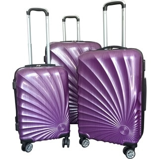 Karriage-Mate Purple Polycarbonate/ABS 3-piece Hardside Spinner Luggage Set